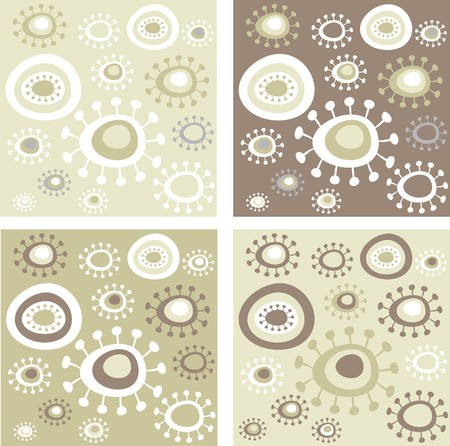 Four  grunge floral patterns Stock Vector - 7143419