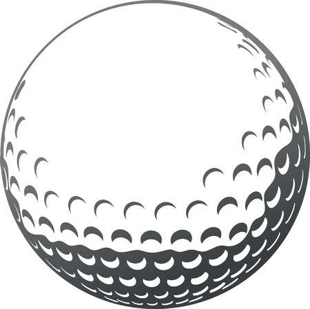 golf ball close-up Vector
