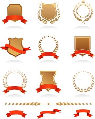 crests: Banner, scudetti, allori e nastri