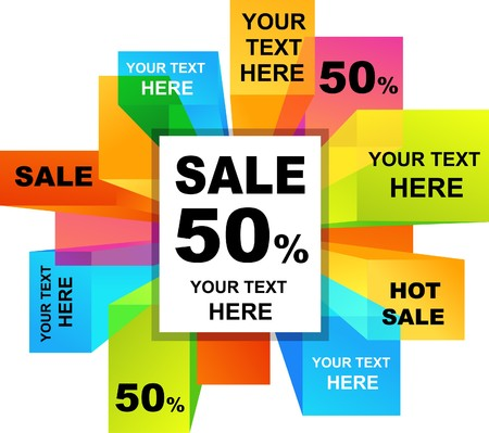 sale banner: Collection of colorful sale backgrounds