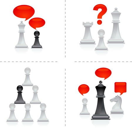 Chess metaphors - teamwork Vector