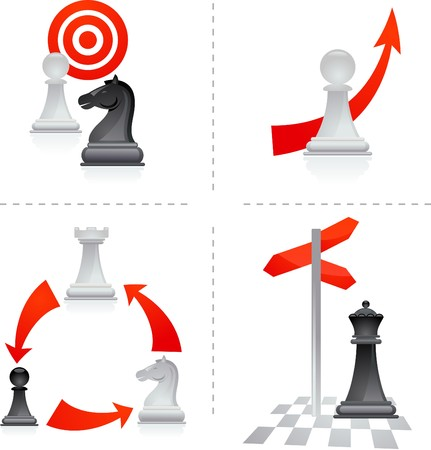 Chess metaphors - goals and choices Vector