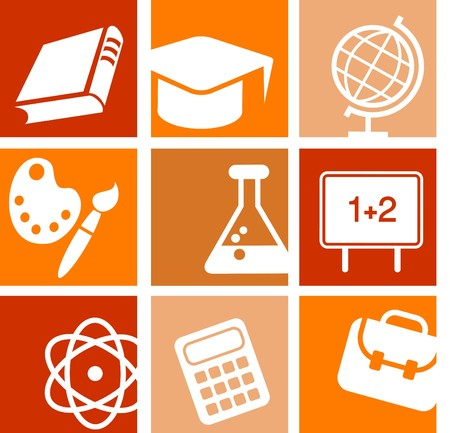 Science and education icons and logos Stock Vector - 7560052