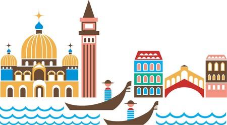 Venice panorama Illustration