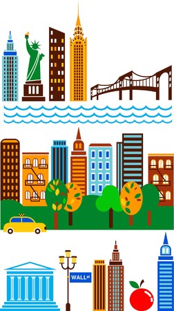 New York attractions and scenes  Stock Vector - 7560062