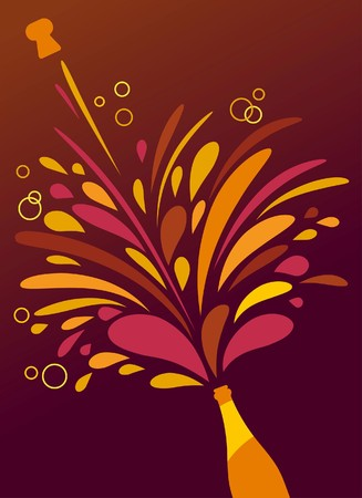bollicine champagne: Splash Champagne retr� funky sfondo