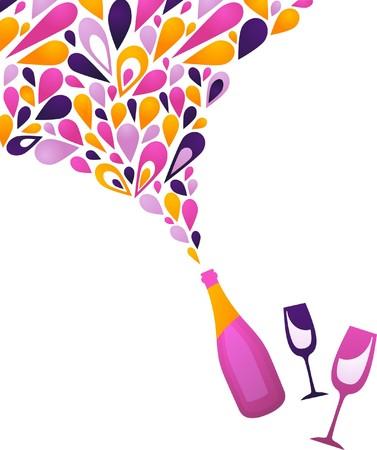 Arrière-plan de vin blanc propre Funky