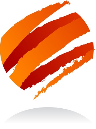 Abstract 3D ribbon design element - illustration Vector