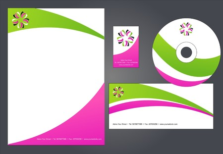 Corporate Identity Template  illustration  Vector