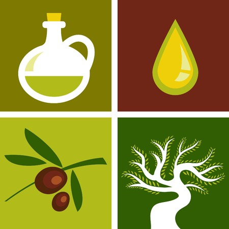 Four olive backgrounds Stock Vector - 7824805