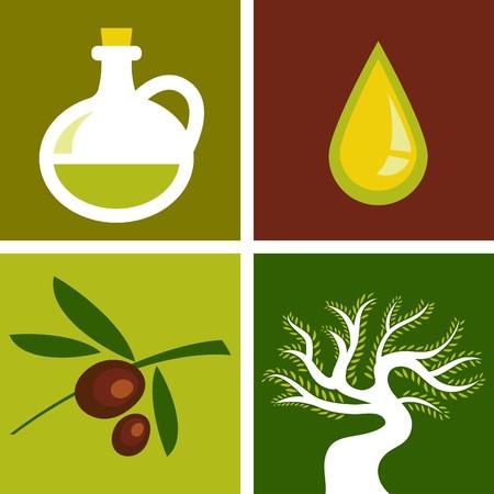 omega: Four olive backgrounds