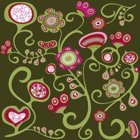 oriental season: Oriental floral wallpaper pattern