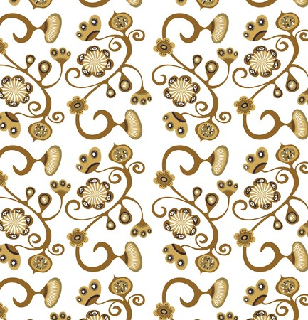 Retro seamless floral  pattern Stock Vector - 7824846