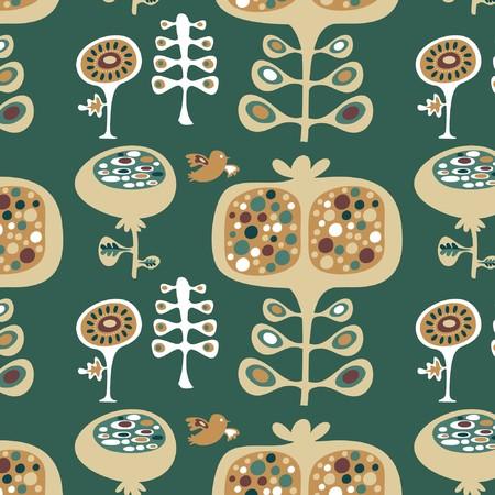 Cute  seamless wallpaper floral pattern Vector