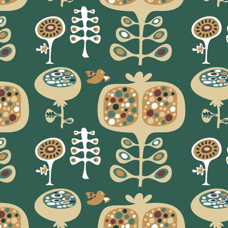 Cute  seamless wallpaper floral pattern Vector