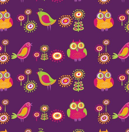 bird of prey: Flowers and birds wallpaper Illustration