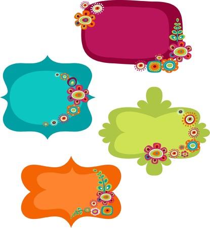 cunning: Cute marcos coloridos  Vectores
