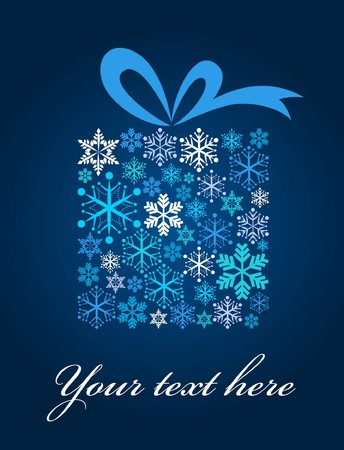 Christmas gift box with snowflake pattern Stock Vector - 7978010