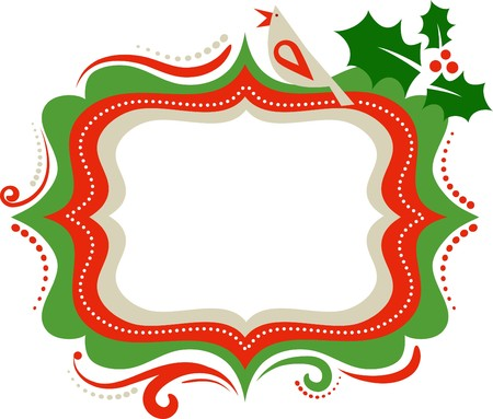Christmas frame with a bird Vector