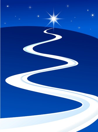 Guiding star lighting the way Stock Vector - 7978001