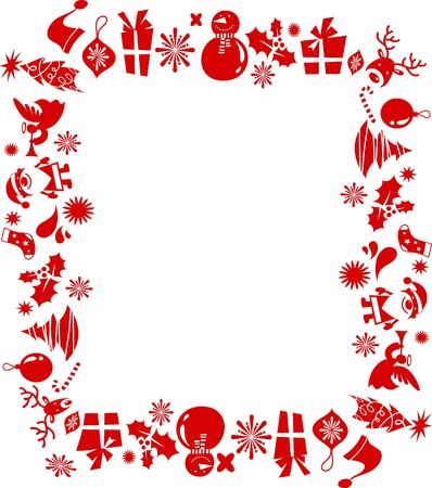 Frame made from Christmas graphic elements  Vector