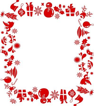 Telaio compiuto da elementi grafici di Natale