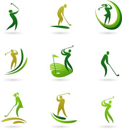 Golf icons collection Vector