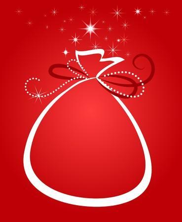 Christmas bag  background Vector