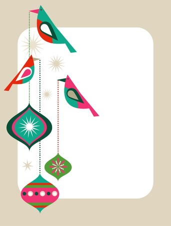 Retro  Christmas card template Vector