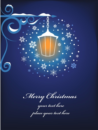 Christmas lamppost background Vector