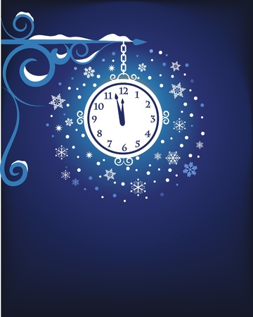Mystic old clock at night Vector