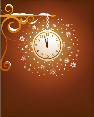 Retro clock background Stock Vector - 8302473