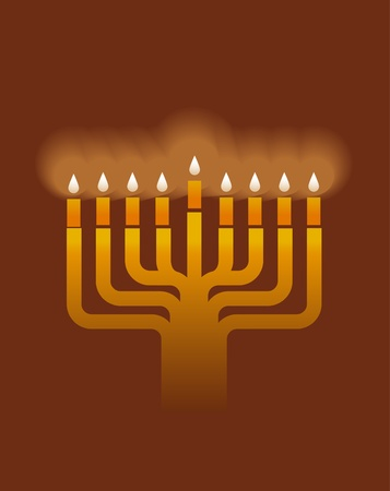 hanukah: Hanukkah menorah background Illustration