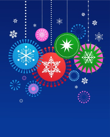 Christmas decorations background Vector