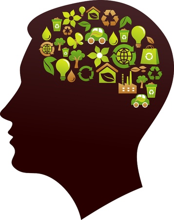 Ecological thinking concept Vector