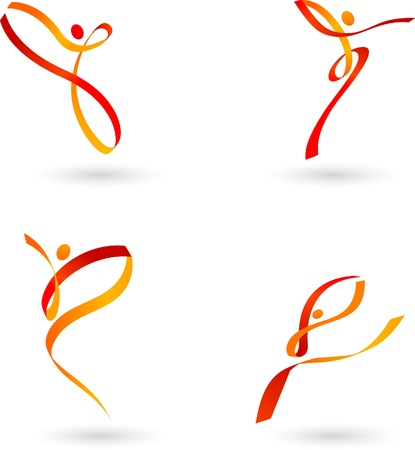 Abstract dancing outlines Stock Vector - 8302439