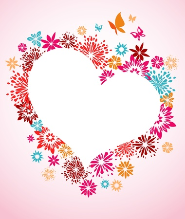 Floral frame for Valentines Day Stock Photo - 8679132