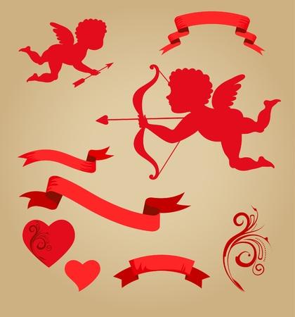 Valentines graphic elements photo