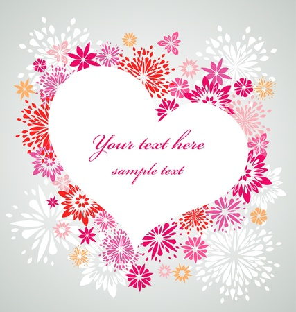 Floral heart frame Stock Photo - 8679138