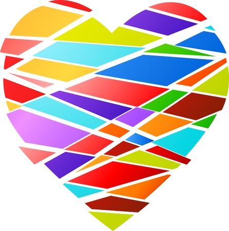 Funky Valentines heart Stock Photo - 8679118