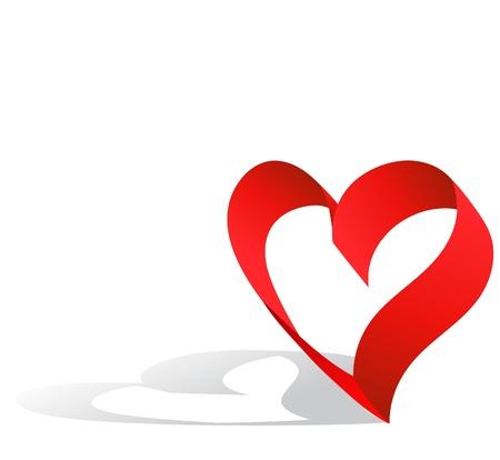 Red ribbon heart Stock Photo - 8679085