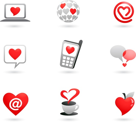 Heart icons collection photo