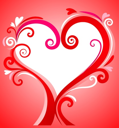 Valentines frame with elegant heart Stock Photo - 8679128