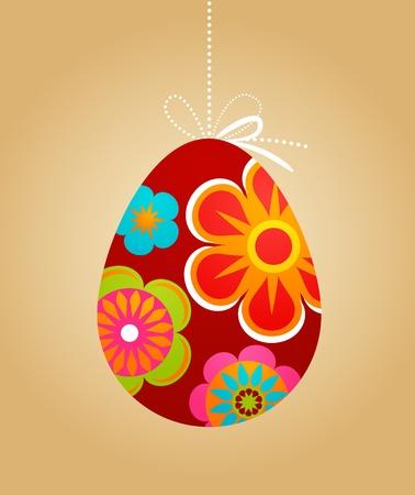 Floral Easter egg backgorund photo