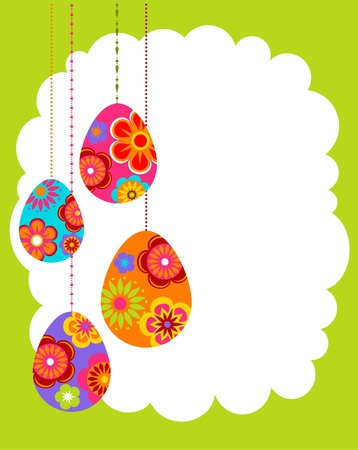 Easter background with colored eggs Stock Photo - 8929571