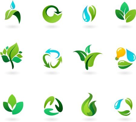 medio ambiente: Iconos de medio ambiente y naturaleza