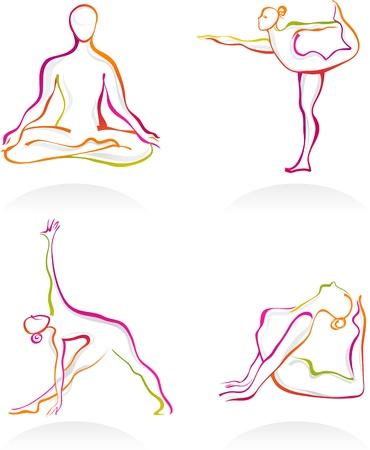 mind body soul: Asana - Yoga postures outnlines
