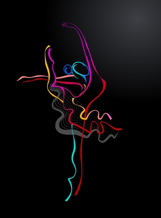 Ballet dancer outline photo