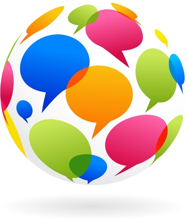 chatting: Global communication concept image Stock Photo
