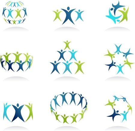 Cooperation - human icons collection Stock Photo - 9104009